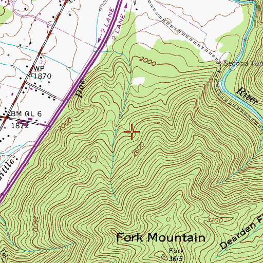Topographic Map of Harold Prospect, TN