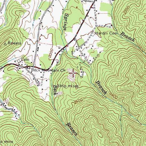 Topographic Map of Nave Mine, TN