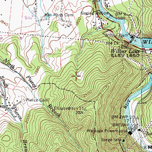 Topographic Map of Siam Prospect, TN