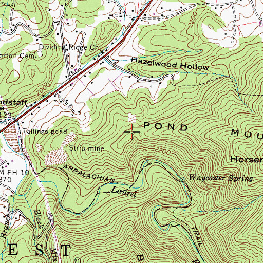 Topographic Map of Teaster and Ray Prospect, TN