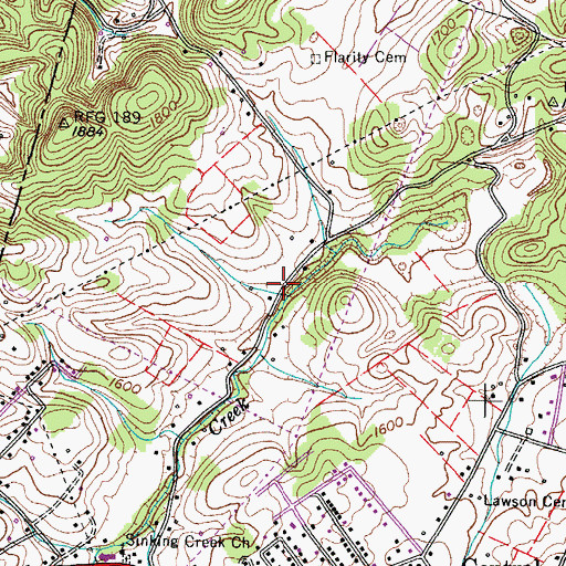 Topographic Map of Hughes Mill (historical), TN