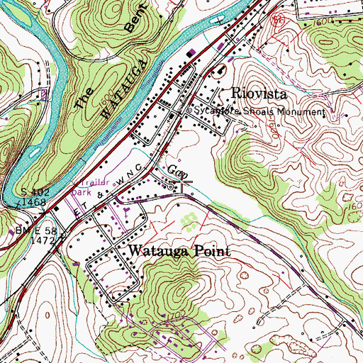 Topographic Map of Taylors Mill (historical), TN