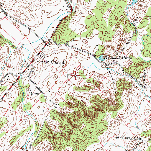 Topographic Map of Cox Prospect, TN