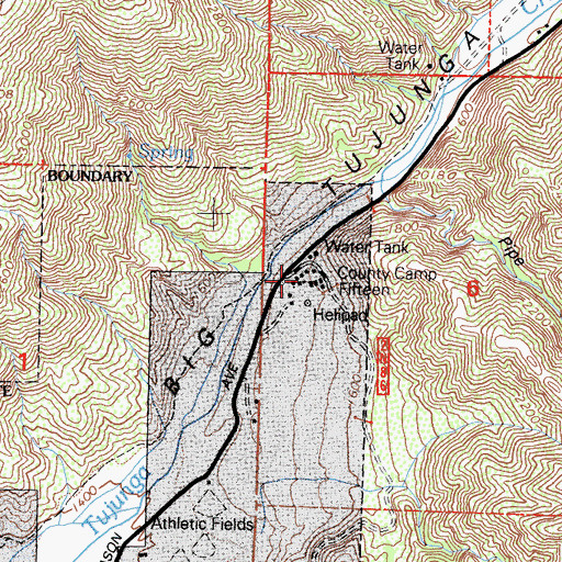 Topographic Map of Camp 15 Heliport, CA