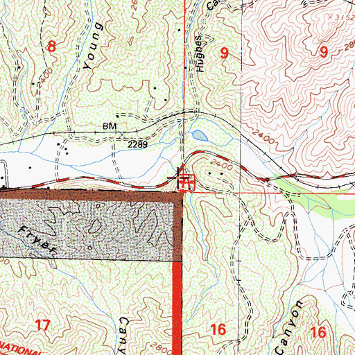 Topographic Map of Wild Country Picnic Area, CA