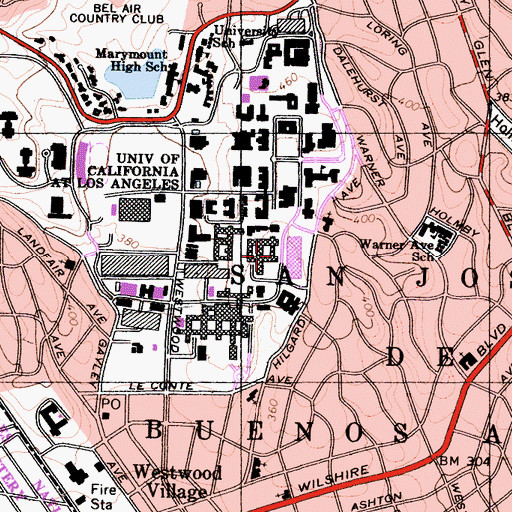 Topographic Map of Slichter Hall, CA