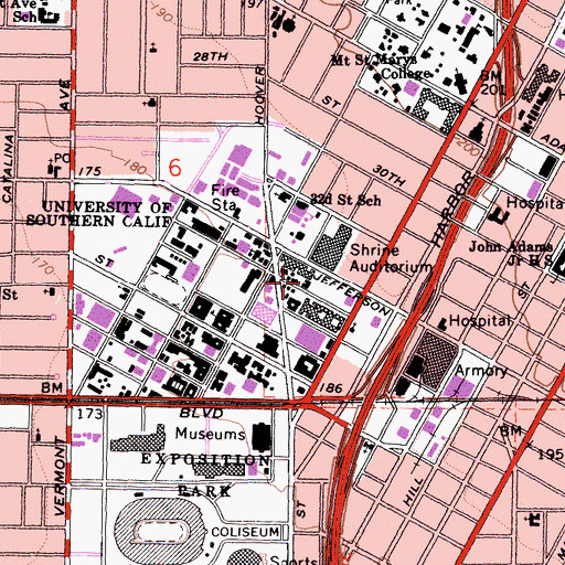 Topographic Map of Montgomery Ross Fisher Building, CA