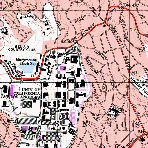 Topographic Map of Anderson Graduate School of Management, CA
