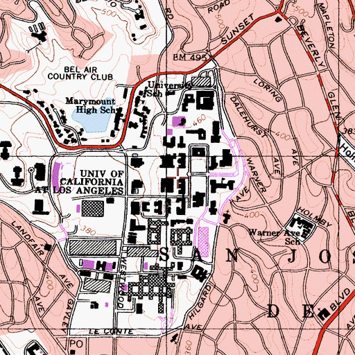 Topographic Map of Dickson Plaza, CA