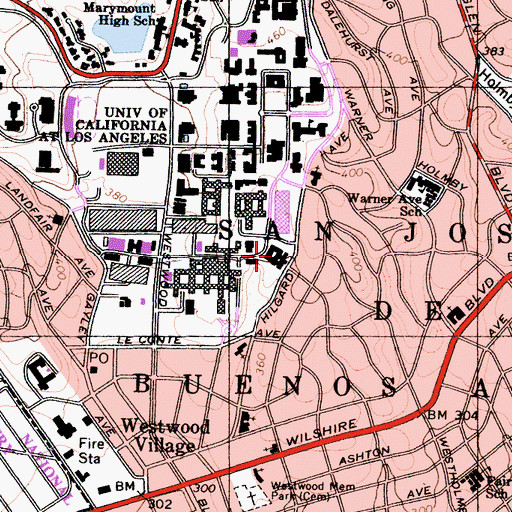 Topographic Map of Hershey Hall, CA