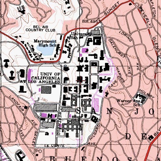 Topographic Map of Kinsey Hall, CA