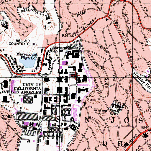 Topographic Map of Lu Valle Commons, CA