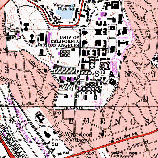 Topographic Map of MacDonald Medical Research Laboratories, CA
