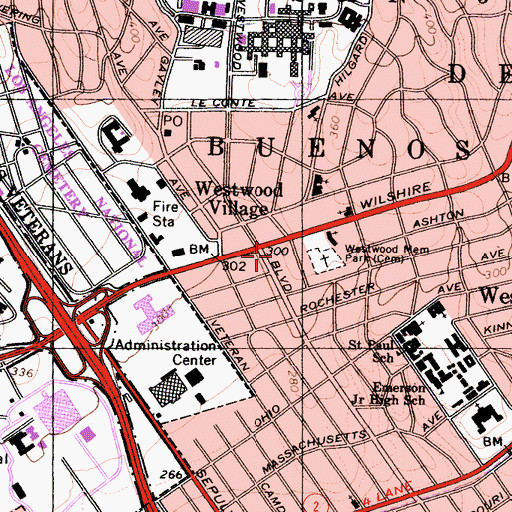 Topographic Map of Maxxam Building, CA