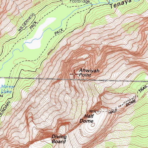 Topographic Map of Ahwiyah Point, CA