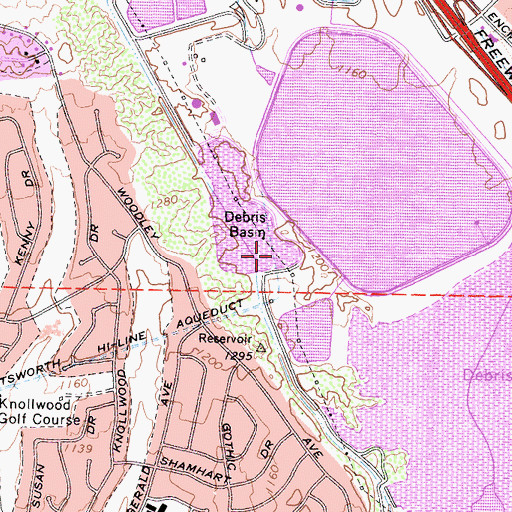 Topographic Map of Channel Diversion Dike 6-039 Dam, CA