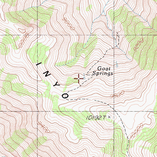 Topographic Map of Goat Springs, CA