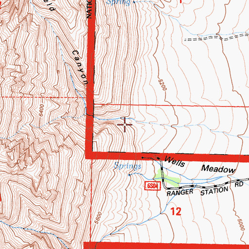 Topographic Map of Mayfield Canyon, CA