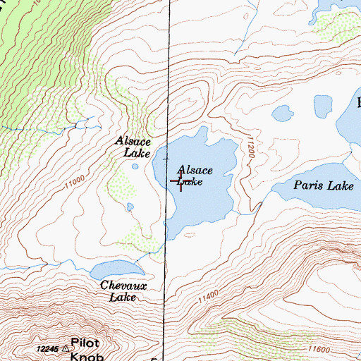 Topographic Map of Alsace Lake, CA