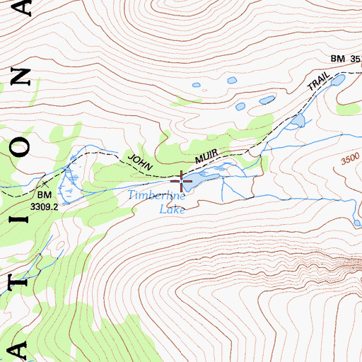Topographic Map of Timberline Lake, CA