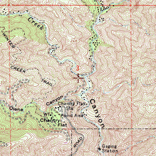 Topographic Map of Roberts Camp, CA
