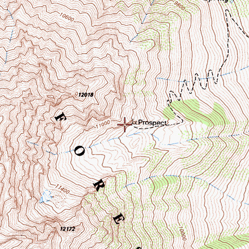 Topographic Map of Mountain Basin Prospect, CA