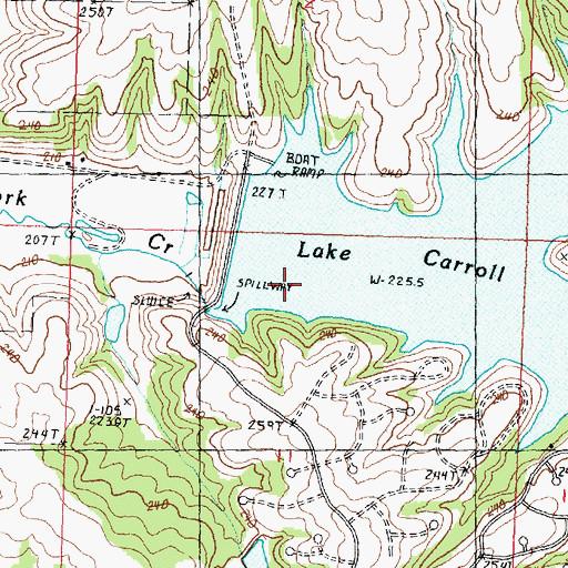 lake carroll il map Lake Carroll Dam Il lake carroll il map