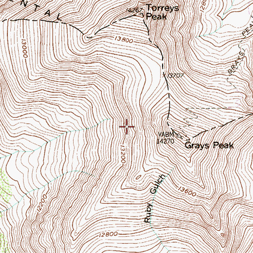 Topographic Map of Decatur Mines, CO
