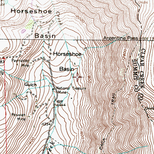 Topographic Map of Minikus, Olson, and Associates Site Claims Mine, CO