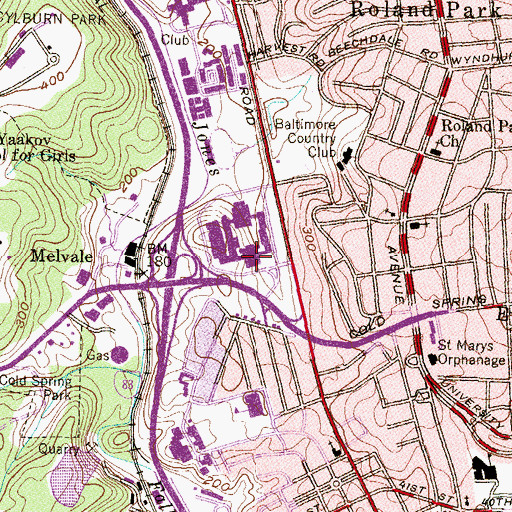 Topographic Map of Baltimore Polytechnic Institute, MD