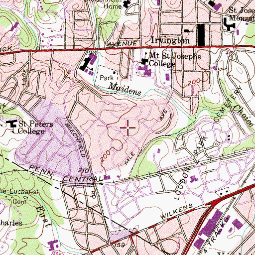 Topographic Map of Norwood Heights, MD