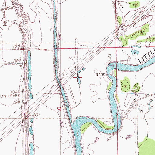 Topographic Map of The Round Hole, MS