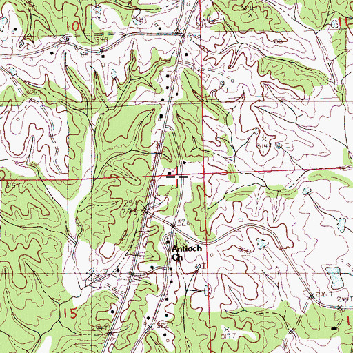Topographic Map of Independence School (historical), MS
