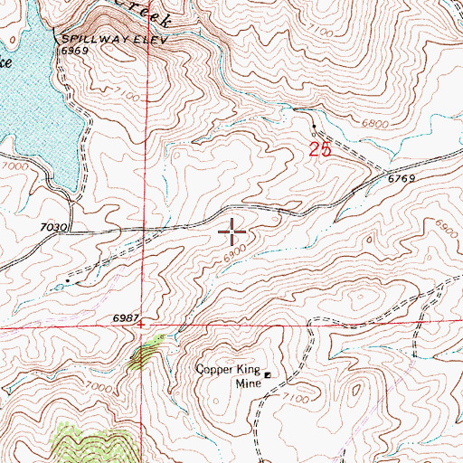 Topographic Map of Great Standard Group Mine, WY