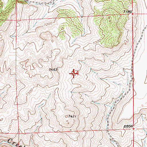 Topographic Map of Hecla Mine and Prospects, WY