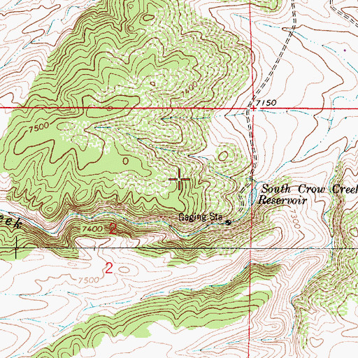 Topographic Map of Kopper Krown Group Mine, WY