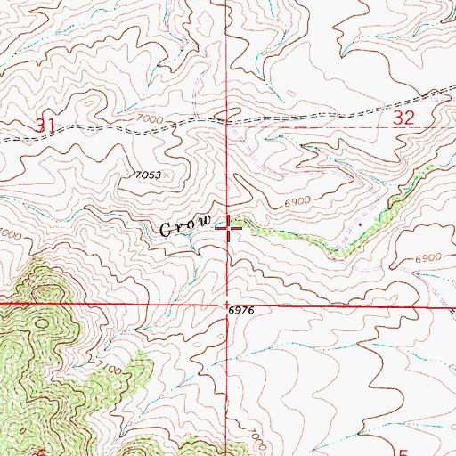 Topographic Map of Louise Mine, WY