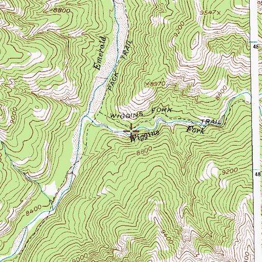 Kirwin Wyoming Map.Kirwin Mine Wy
