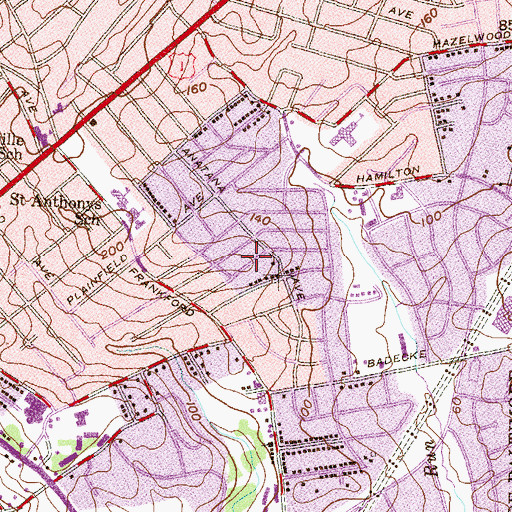 Topographic Map of Cedonia, MD