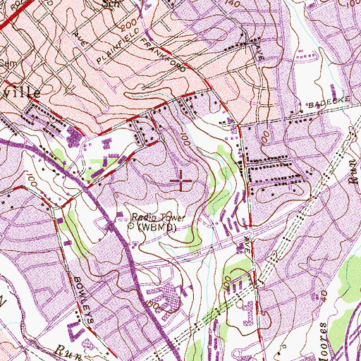 Topographic Map of Goodnow Hill, MD