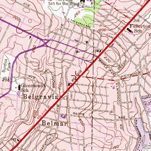Topographic Map of Raspeburg Post Office, MD