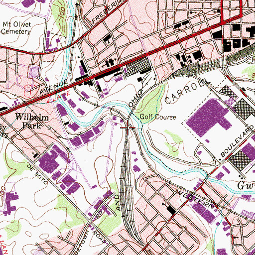 Topographic Map of Claremont (historical), MD
