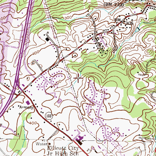 Topographic Map of Autumn Hill, MD