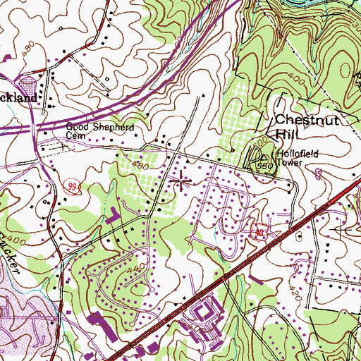 Topographic Map of Ivy Hill, MD