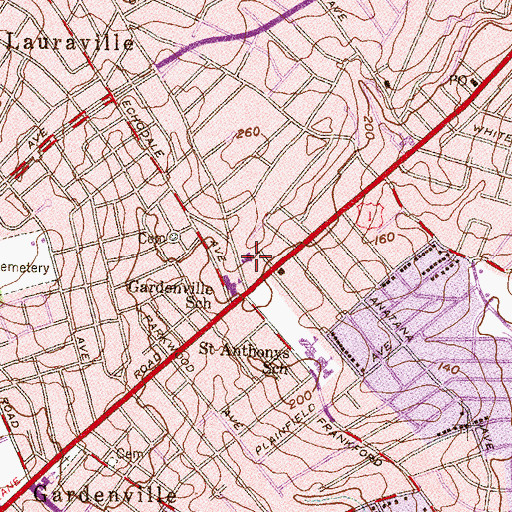 Topographic Map of Andrew Chapel United Methodist Church, MD