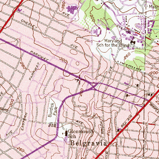 Topographic Map of First Bible Presbyterian Church (historical), MD