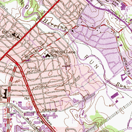 Topographic Map of First Pilgrim Holiness Church, MD