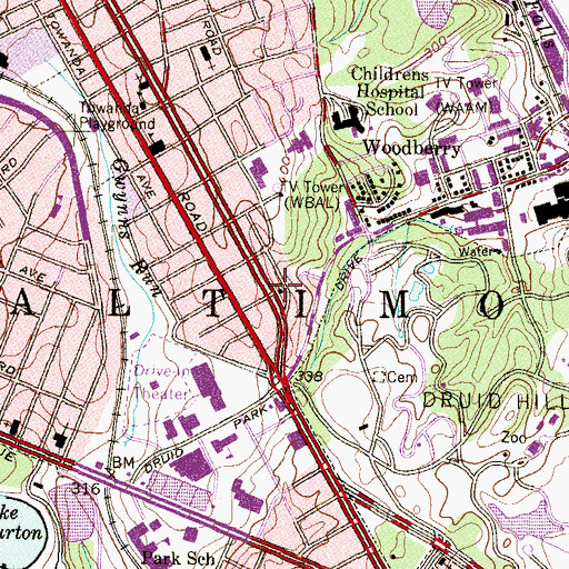 Topographic Map of Good Shepherd Baptist Church, MD