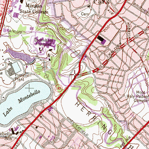 Topographic Map of Hall Spring, MD