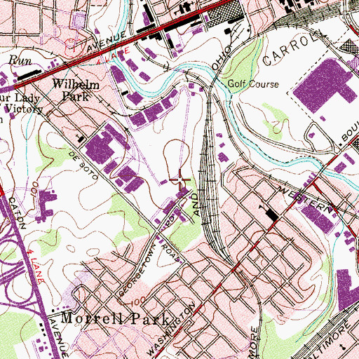 Topographic Map of Interchange 51, MD